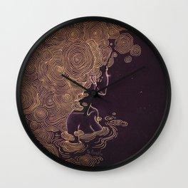 Ripples of Gold Wall Clock
