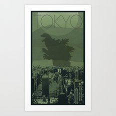Every City Has Its Creature - Tokyo Art Print