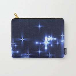 Marine background with shining light metal stars. Carry-All Pouch