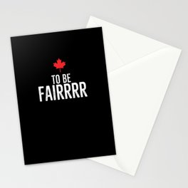 To Be Fairrrr Stationery Cards