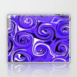 Bright Blue Violet Swirls Laptop & iPad Skin