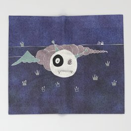 Toothworm by night Throw Blanket
