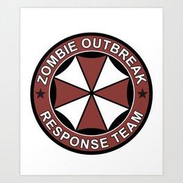 Zombie Outbreak T-shirt Art Print