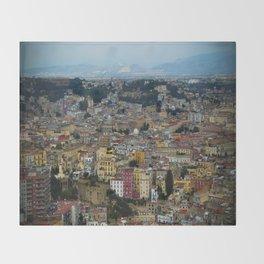 Napoli view Throw Blanket