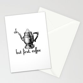 Ok, But First Coffee Retro Vintage Percolator Stationery Cards