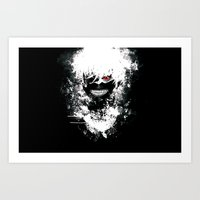 tokyo ghoul Art Prints featuring Kaneki Tokyo Ghoul by Prince Of Darkness