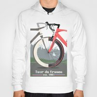 tour de france Hoodies featuring Tour De France Bicycle by Wyatt Design