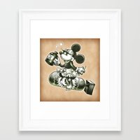 bombs away Framed Art Prints featuring BOMBS AWAY by Tim Shumate