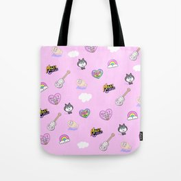 Miley in the Sky with Rainbows Tote Bag