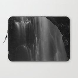 Black and white waterfall long exposure Laptop Sleeve