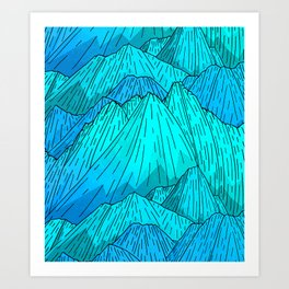 The Cool Blue Mounts Art Print