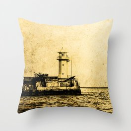 Old Lighthouse (vintage) Throw Pillow
