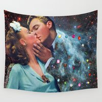 eugenia loli Wall Tapestries featuring I Wish I Was a Cloud Too by Eugenia Loli
