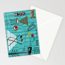 Mid-Century Tiki Tok Stationery Cards
