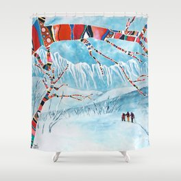 The Approach Shower Curtain