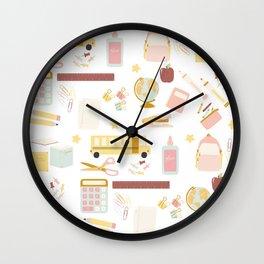 Teacher Essentials Pattern 1 Wall Clock