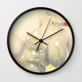 BBW Pin Up - Golden Wall Clock