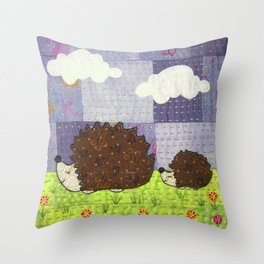 Just Following Our Noses Throw Pillow