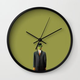 In the style of Magritte Wall Clock