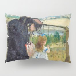 Woman and child on balcony - Digital Remastered Edition Pillow Sham