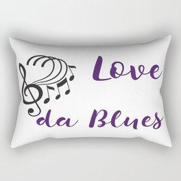 Love da Blues Rectangular Pillow