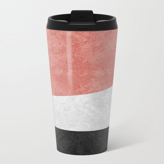 MARBLE 001 Metal Travel Mug