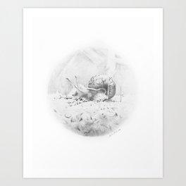 Cornelius Struts His Stuff Art Print