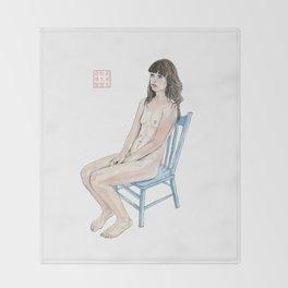 The Blue Chair Throw Blanket