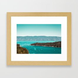 Even in the summer this lake looks like a frozen glass. Framed Art Print