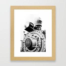 Train Black Framed Art Print