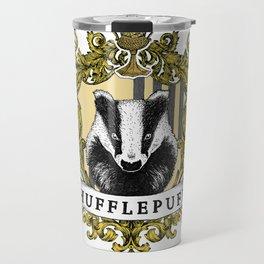 Hufflepuff Color Crest Travel Mug