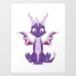 Spyro the dragon Lowpoly Art Print