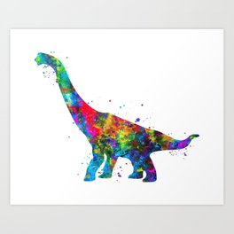 Brachiosaurus Dinosaur Art Print