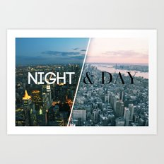 NIGHT & DAY Art Print