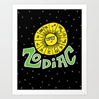 zodiac Art Prints featuring Zodiac by Elizabeth Evans