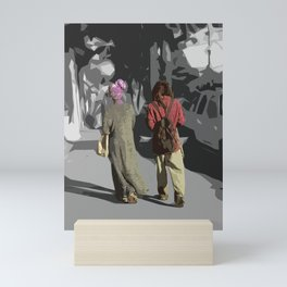 Walking down the Magazine St NOLA Mini Art Print
