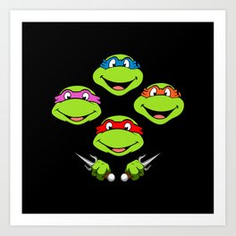 Ninja Turtles Rhapsody Art Print