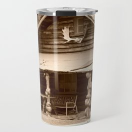Old Log Cabin Travel Mug