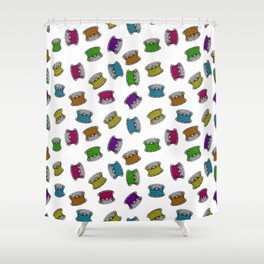 colorful bobbins Shower Curtain