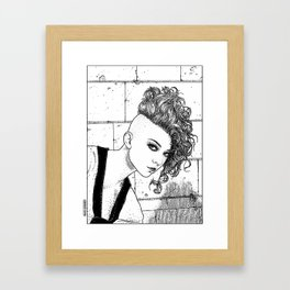 asc 651 - La jeune rebelle (The young mohawk) Framed Art Print