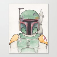 boba Canvas Prints featuring Boba  by Erika Hagarty