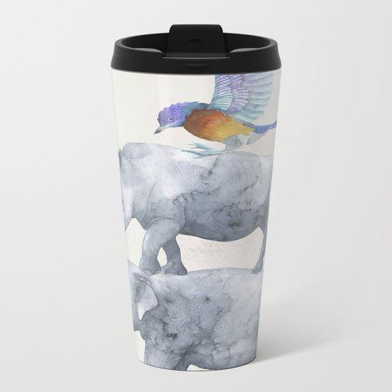 African Wildlife Metal Travel Mug