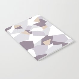Violet abstract forms Notebook