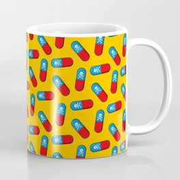 Deadly but Colorful. Pills Pattern Coffee Mug