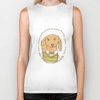 dachshund Biker Tanks featuring Dachshund by MariyArti