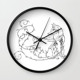 Fox Rot Wall Clock
