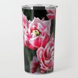 Double Late Peony-Flowered Tulip named Horizon Travel Mug