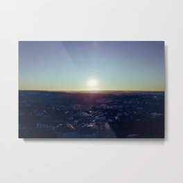 Sunset from the sky Metal Print