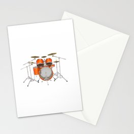 Orange Drum Kit Stationery Cards
