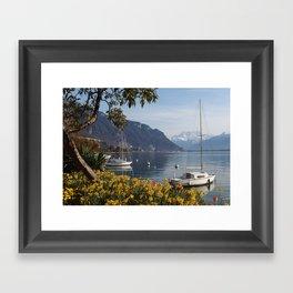 Swiss Riviera III Framed Art Print